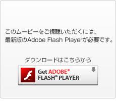 このムービーをご視聴いただくには、最新版のAdobe Flash Playerが必要です。ダウンロードはこちらから
