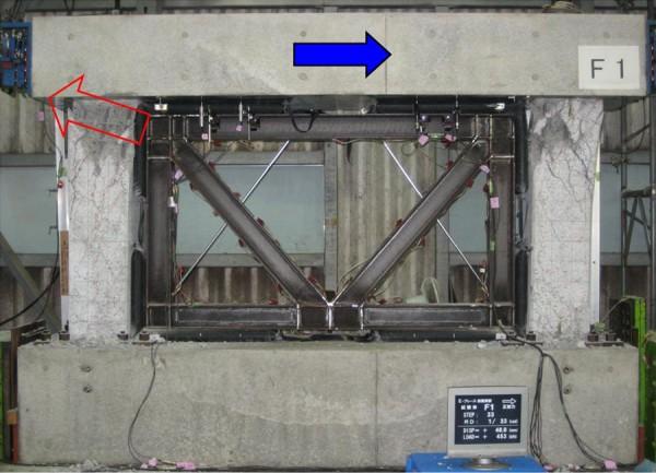 E-ブレース構造実験写真