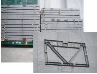 枠材鉄骨ブレース搬入(鉄骨工場組の場合)